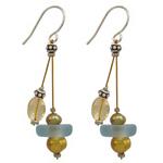 Seaglaas & Pearl Earrings