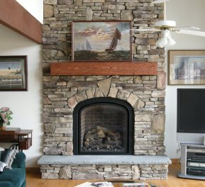 Stone Setters Cultured Stone Fireplace by Stone Garden
