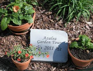 Azalea Garden Plaque by Stone Garden