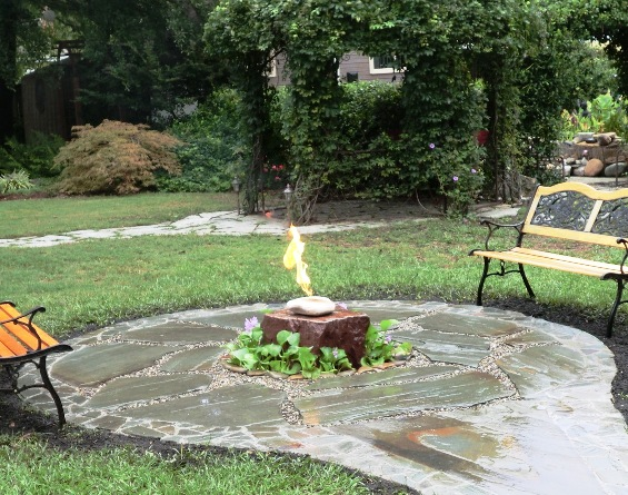 Fire and Waterfeature by Creative Cascades
