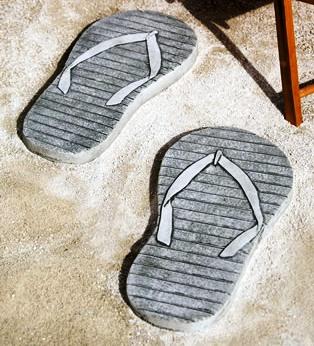 Flip Flop Stepping Stones at Stone Garden