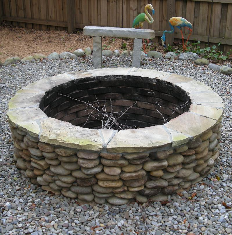 Firepit at Shaw Residence