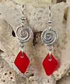 Seaglass Swirl Earrings at Stone Garden
