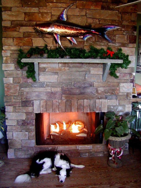 Stone Garden Fireplace