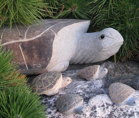 Granite turtles at Stone Garden