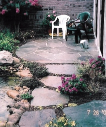 Bluestone path and patio by Doug McGraw