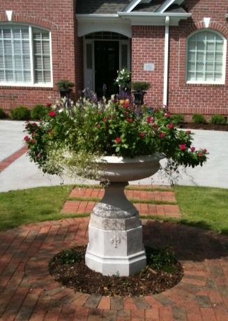 Cast stone planter by Stone Garden