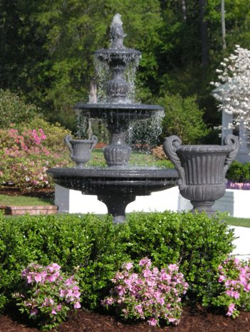 Fountain and Urns by Stone Garden