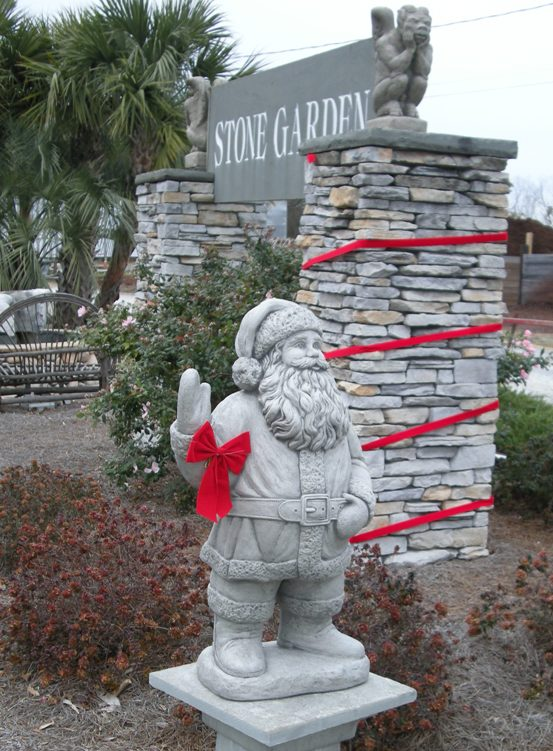 Santa visits Stone Garden