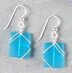 Seaglass earrings at Stone Garden