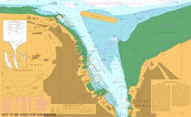 Section from of the UKHO Cowes chart 2793