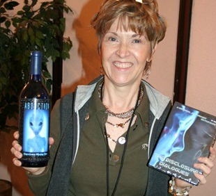 Jen with Abduction wine