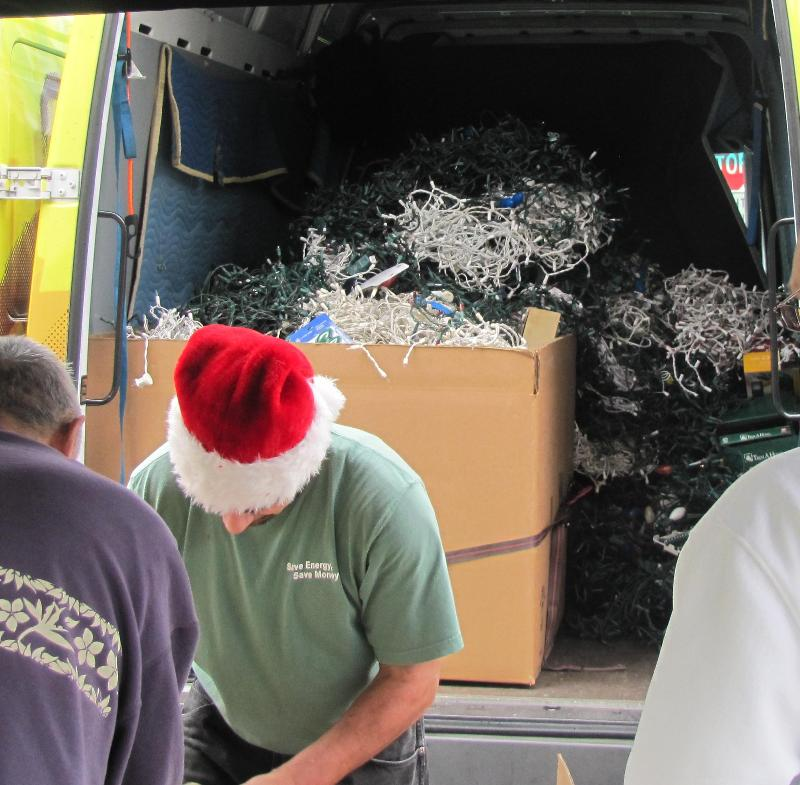 A Van Full of Old Holiday Lights