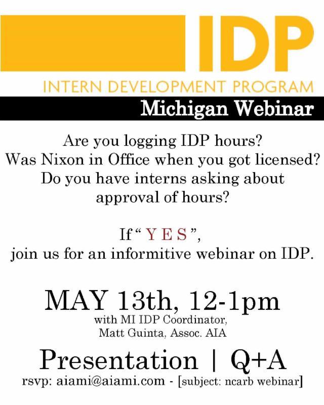 IDP Webinar 2014