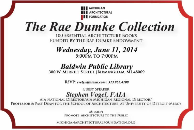 MAF Library Dumke Invite