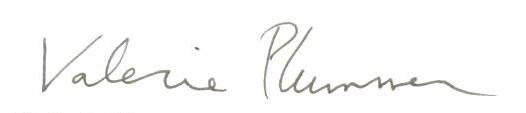 Valerie Plummer signature