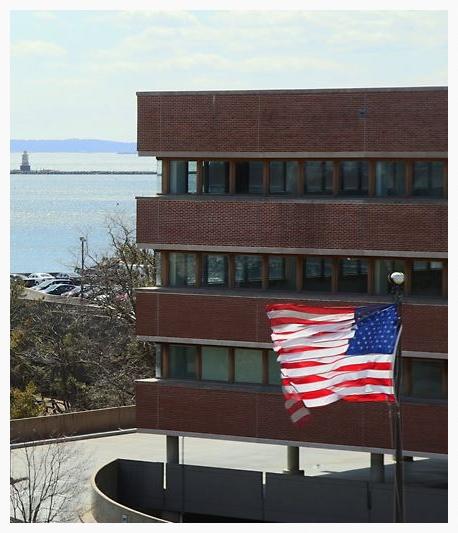 Shippan Point with Flag