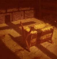 Christmas manger - empty