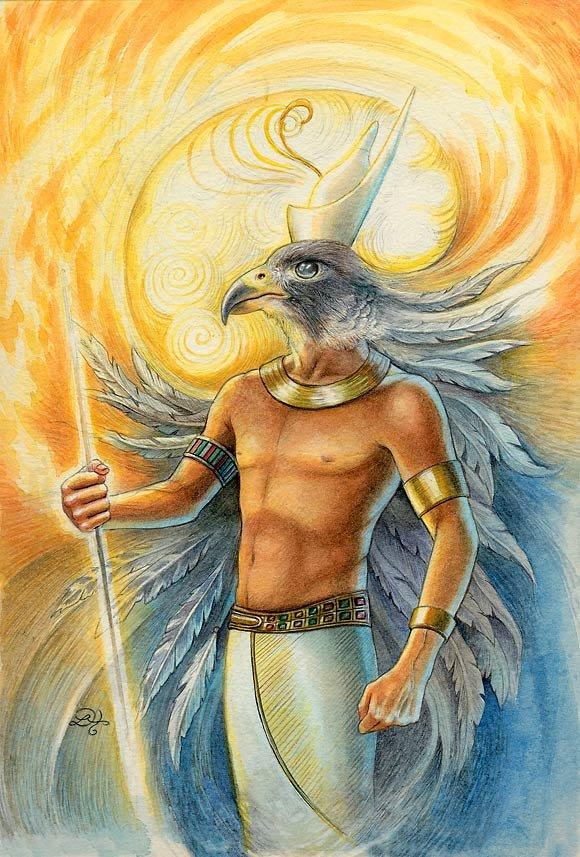Horus the sun god by Lisa Hunt