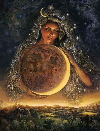 Moon Goddess by Josephine Wall