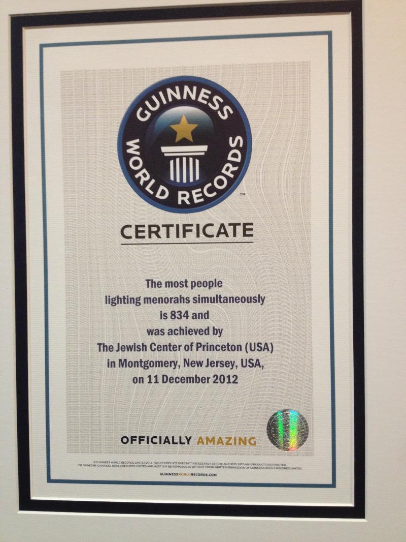 Guiness Book Certificate