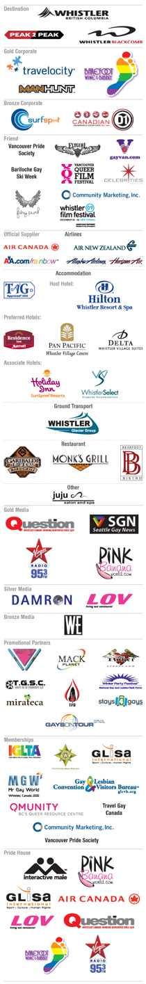 WinterPRIDE 2010 Sponsors