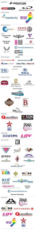 2010 WinterPRIDE Sponsors