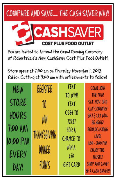 Cash Saver Invitation