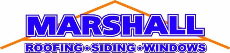 Marshall Roofing Siding Windows logo. More than a roofing company. Serving Northern Virginia and Maryland
