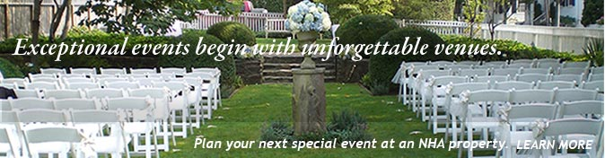 Plan your next special event at an NHA property.