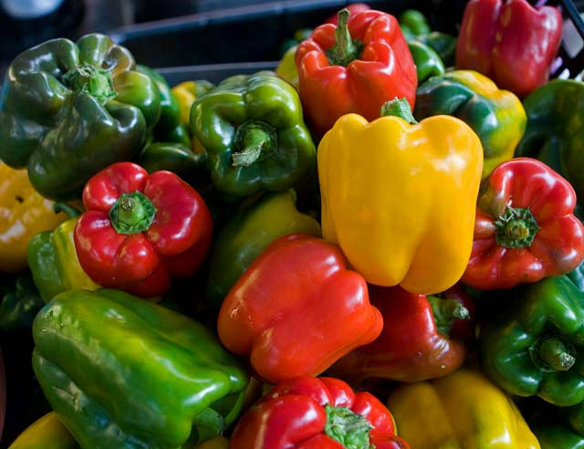 Peppers from Nehmer's Produce. --Photo by Bill Lubing