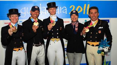 Gold Team Dressage Pan Am