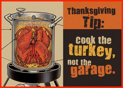 Cook turkey not garage