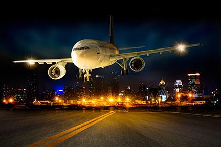 night plane landing