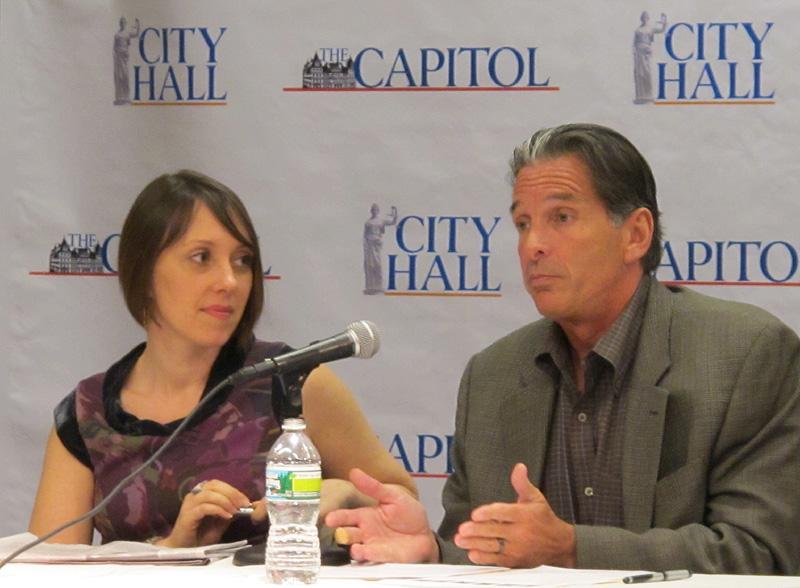 Anat and Peter Madonia at City Hall News Panel
