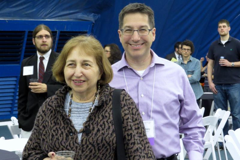 Marie and Allan Bolchazy enjoy Thursday night's reception