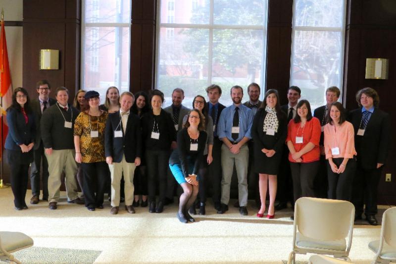 Laurel Fulkerson with undergraduate speakers