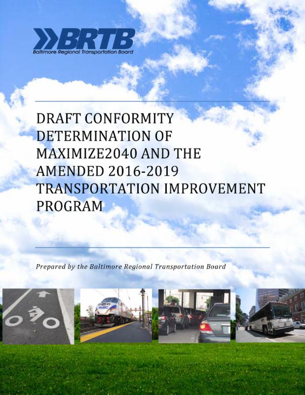 Air Quality Conformity Report - Maximize2040 Draft Plan