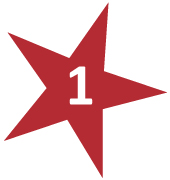 Red Star with # 1