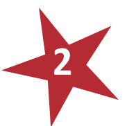 Red Star with # 2