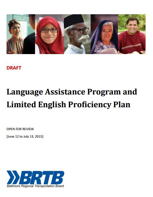 Draft Limited English Proficiency Plan - Cover