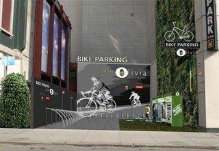 Proposed Rendering of Bike Parking