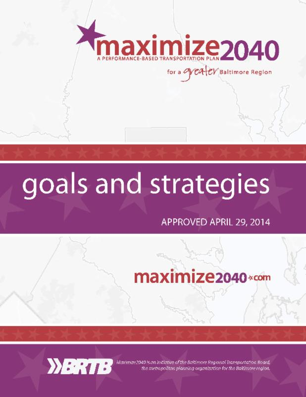 Maximize 2040 Goals and Strategies Cover