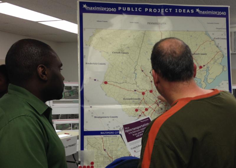 Maximize2040 Outreach - Woodlawn Open House with Red Line