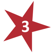 Red Star with # 3