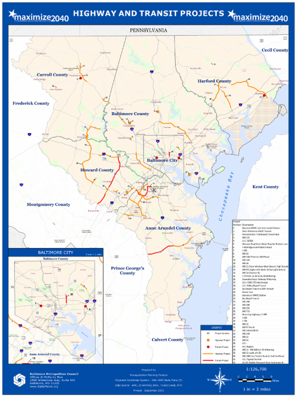 Maximize2040 Projects Map