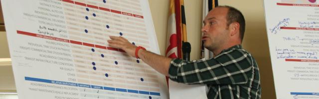 Scenario Workshop Participant Presenting Results