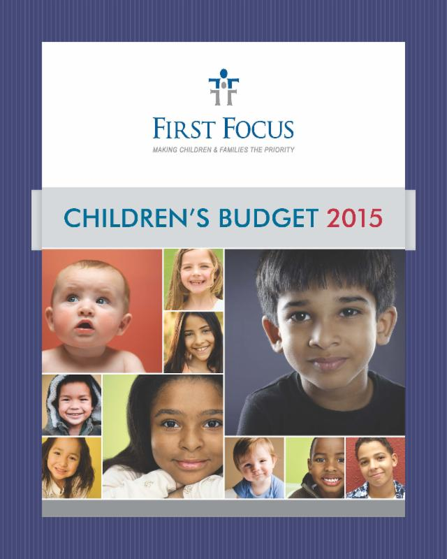 First Focus Children's Budget 2015