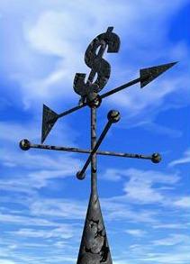 Money weathervane