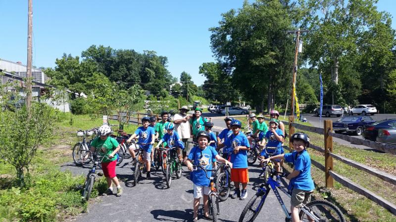 bike riders from Lorimer Park Day Camp